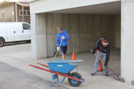 Cleaning of City Hall Garage